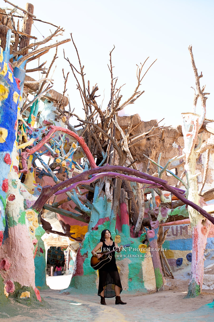 Salvation Mountain Girl Guitar (1)