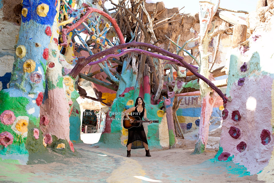 Salvation Mountain Girl Guitar
